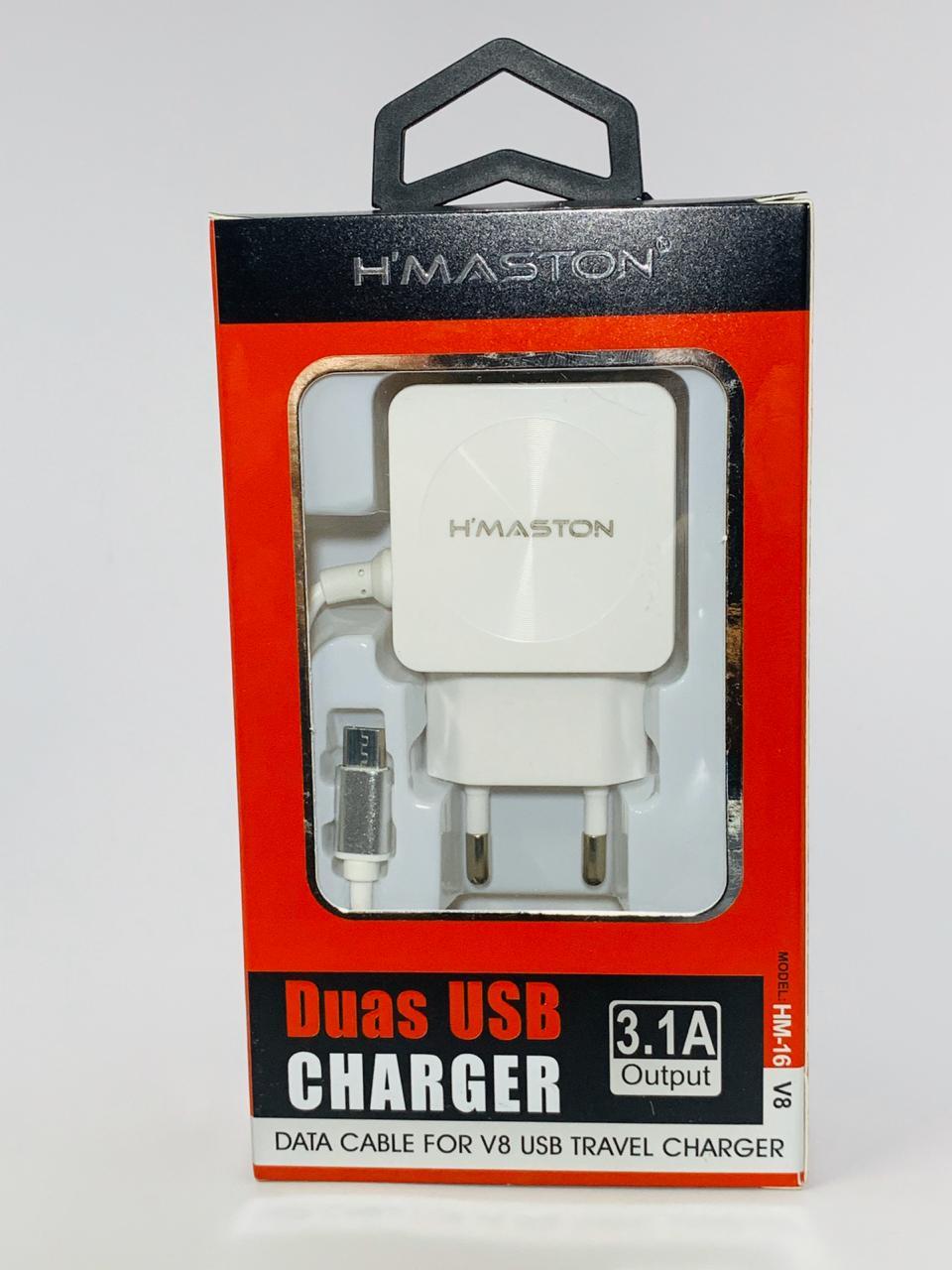 Carregador Celular Hmaston 3.1a HM16 Branco