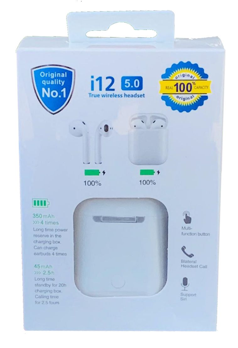 Fone de Ouvido i12 Touch Wireless Bluetooth