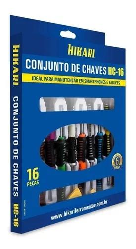 Jogo De Chaves Para Celular Tablet Profissional Hikari Hc16