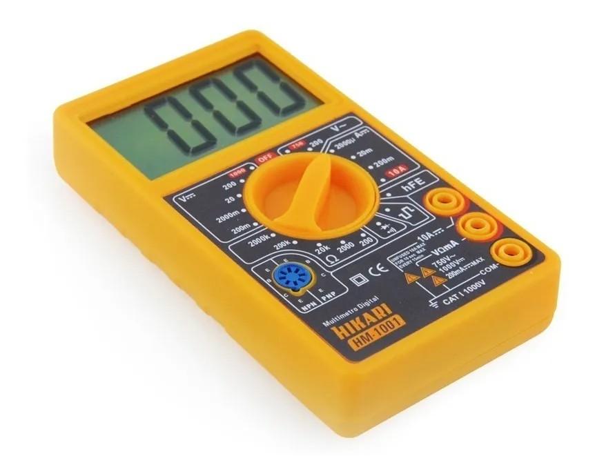 Multímetro Digital Hm-1001 Hikari - Display Lcd Novo Design