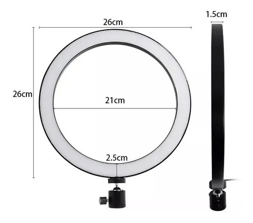 Ring Light Iluminador De Led Portátil 26cm