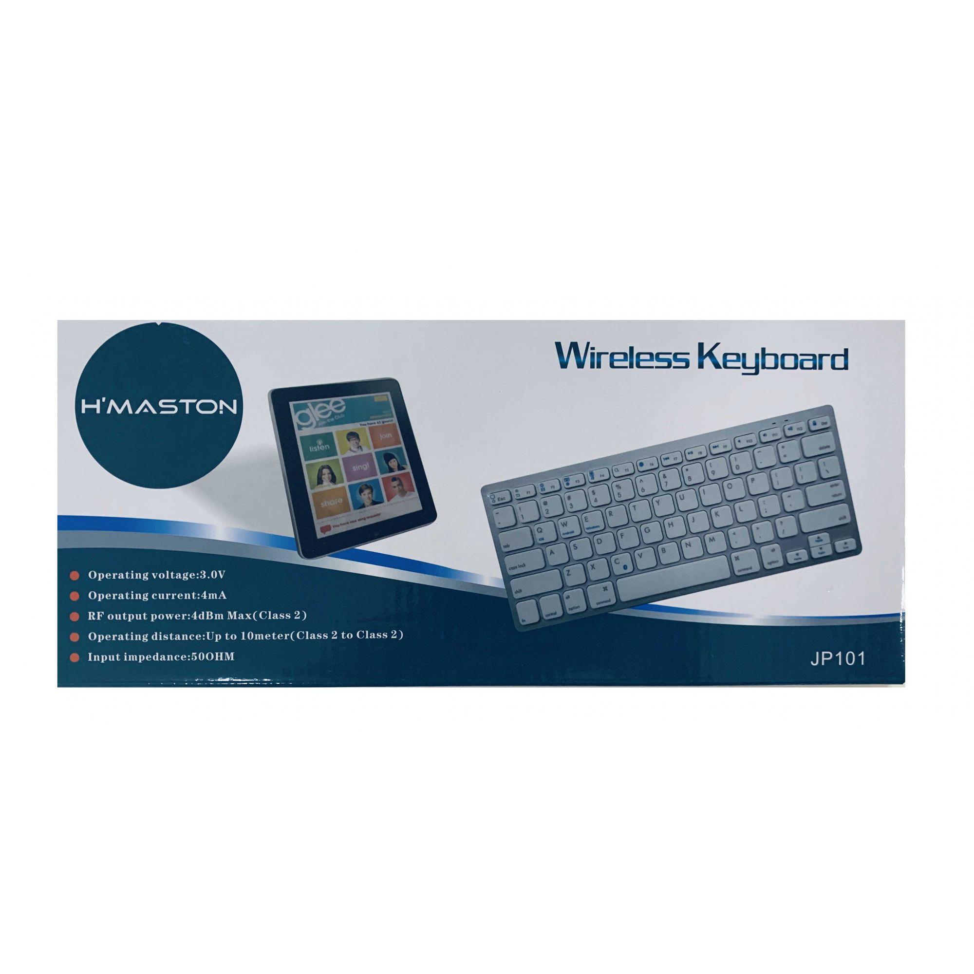 Teclado Sem Fio Bluetooth  para Tablet, Celular e Computador Hmaston