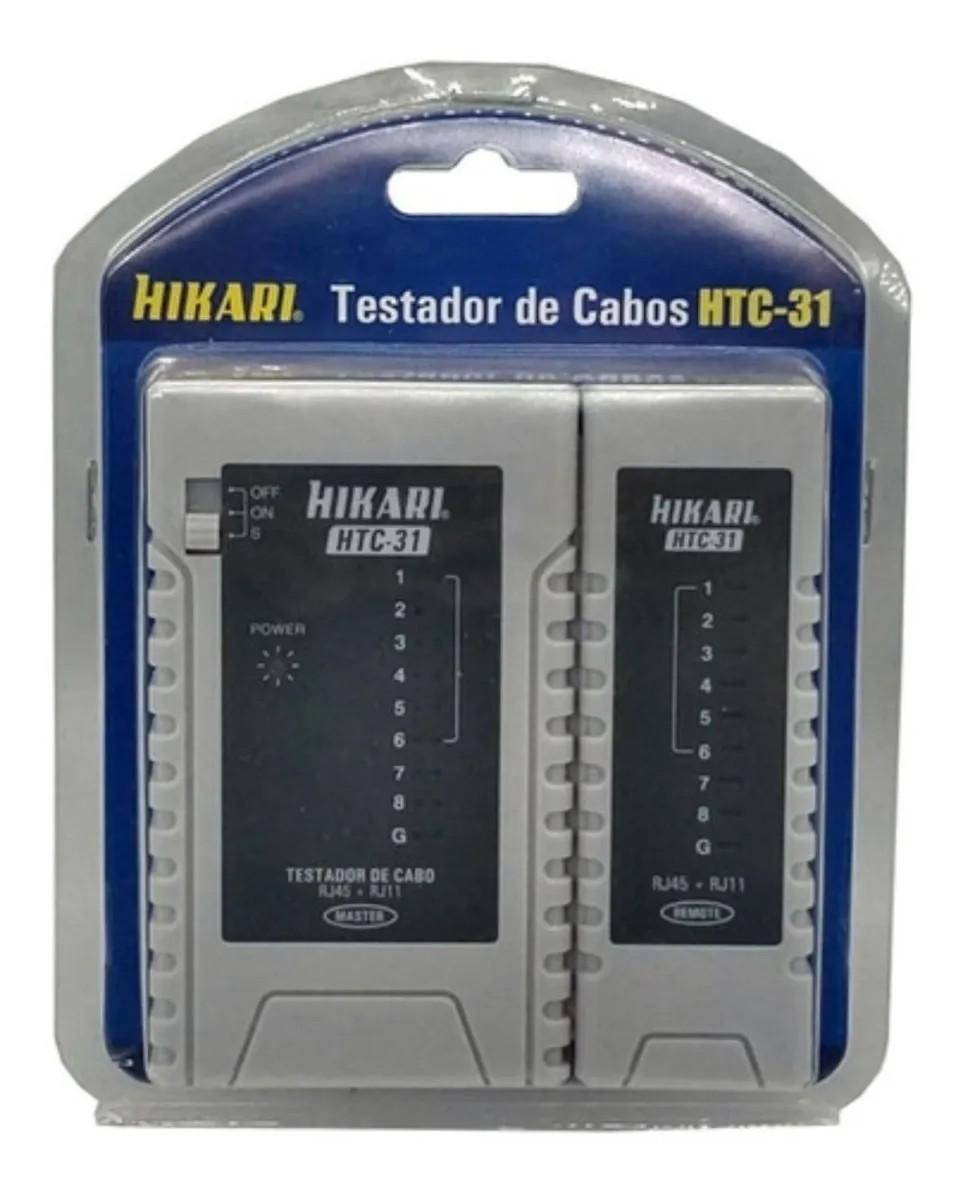 Testador De Cabos Rj11 Rj45 Hikari Htc-31