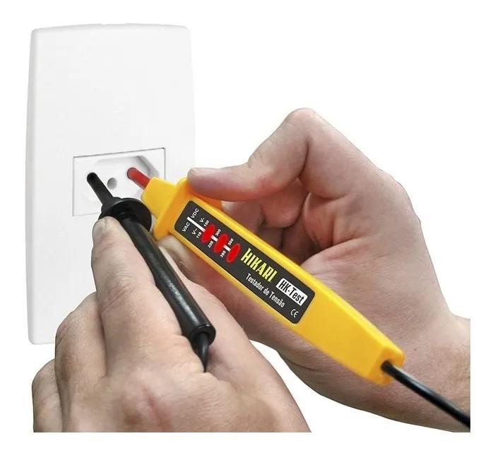 Testador De Tensão Hikari Hk-test 3 Níveis Ca/cc