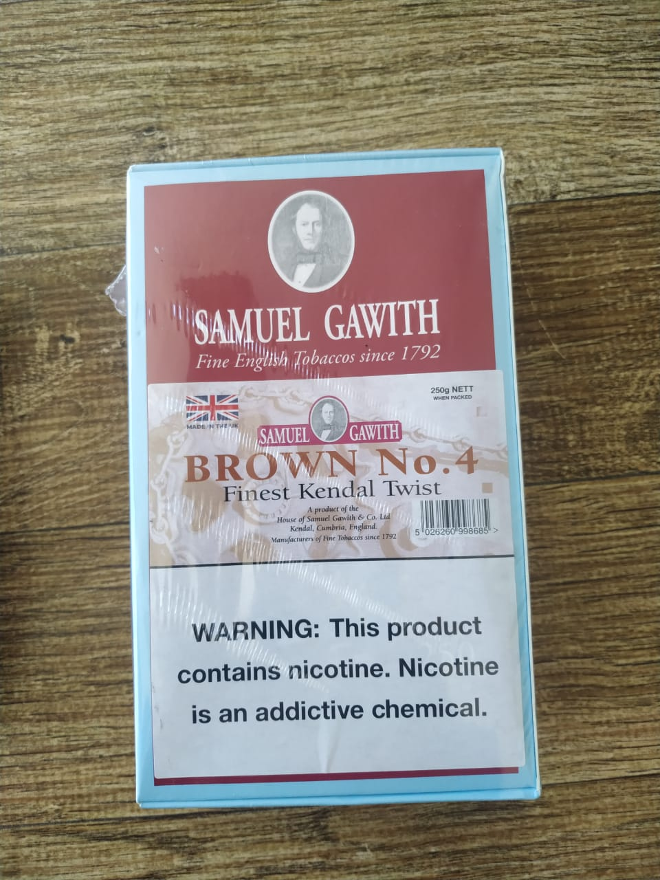 Samuel Gawith - Brown No. 4 - Caixa 250g