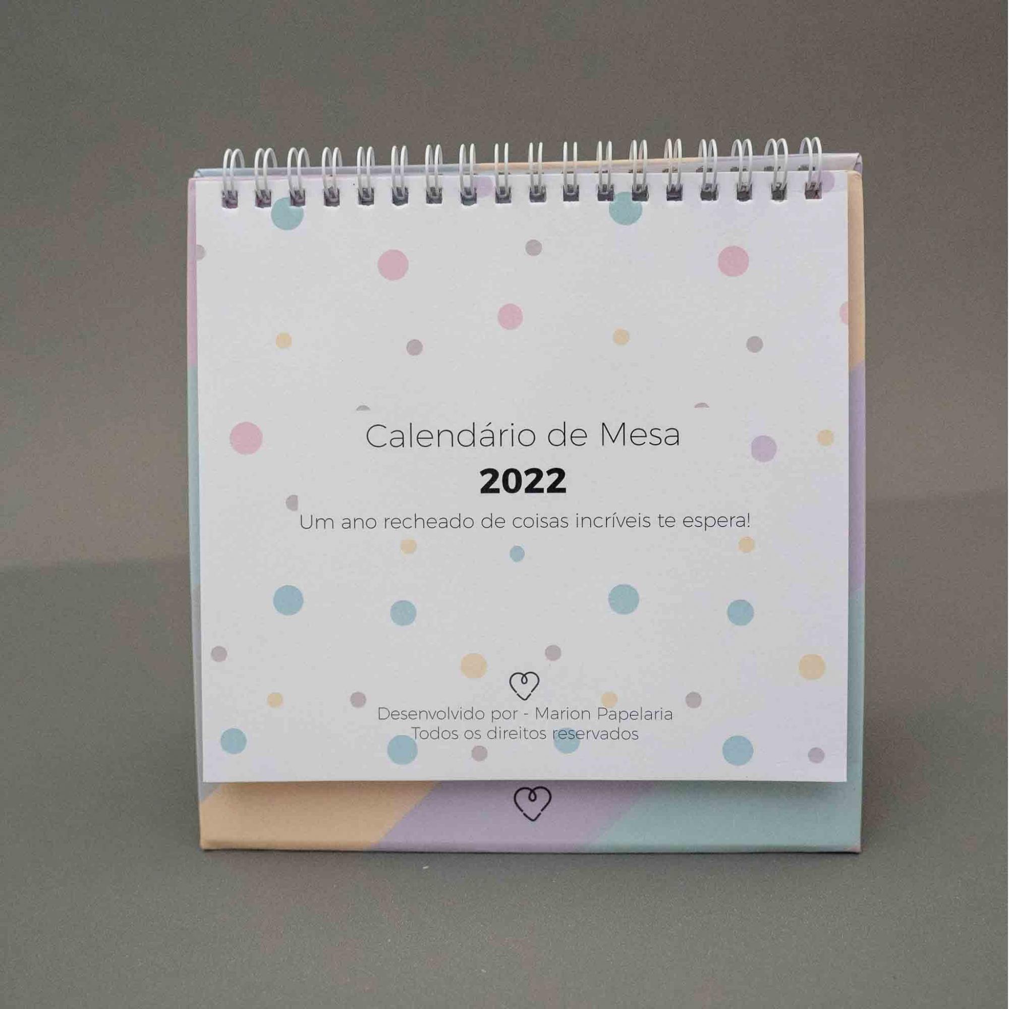 Calendário de Mesa 2022