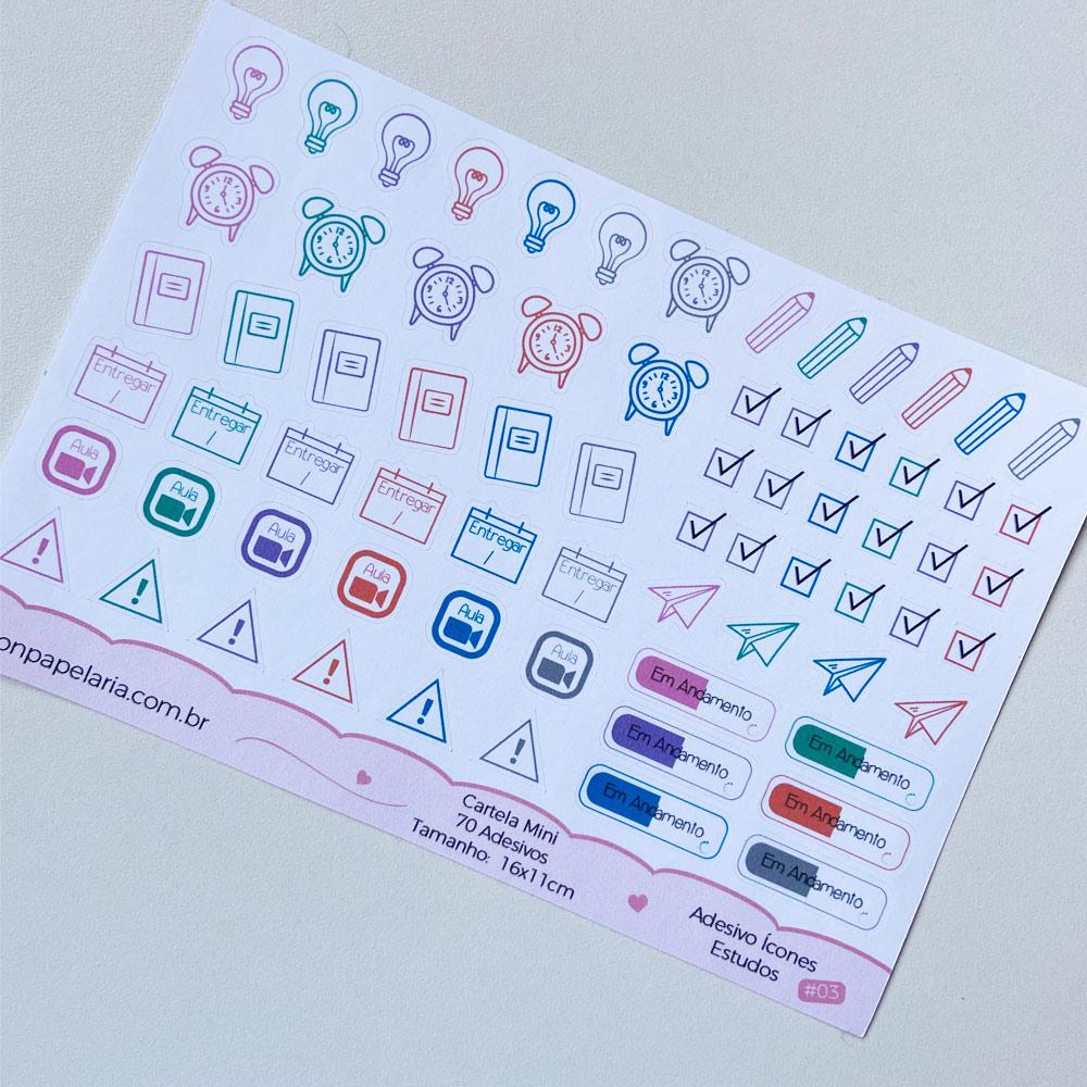 Mini Cartela de Adesivos - Ícones