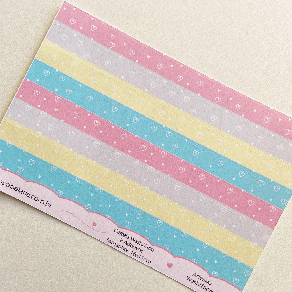 Mini Cartela de Adesivos - Washi Tapes