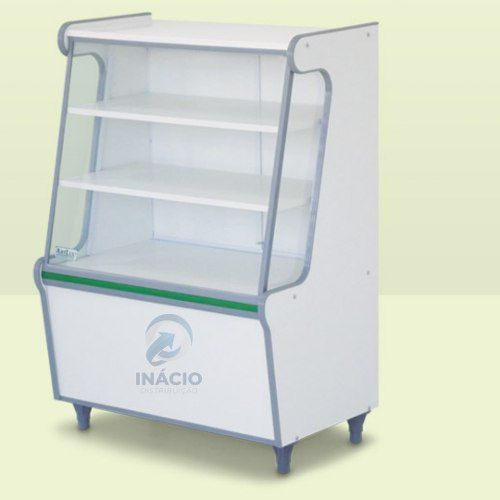 Balcão Seco Expositor Display Produtos Vidro Frontal 0,70 Mt