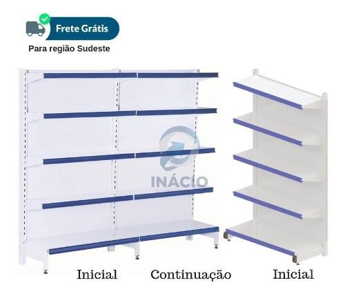 Kit Parede 3inic+5cont + Kit Central 1pont+1inic+1cont
