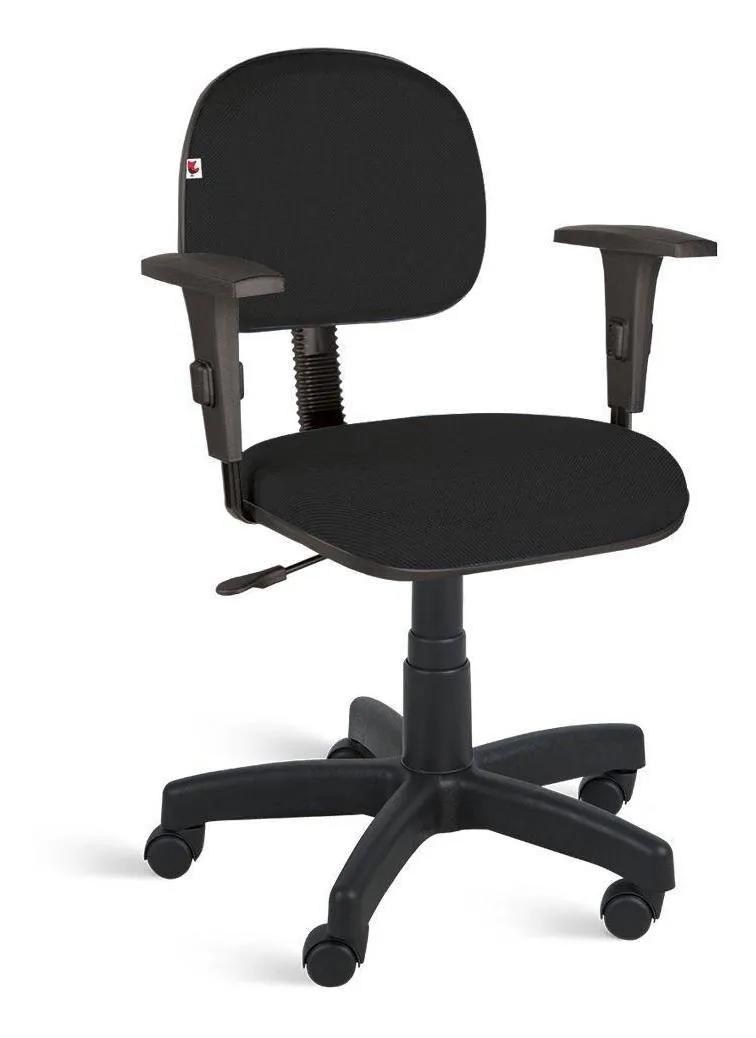 Cadeira Digitador Giratória C/ Braços Reguláveis