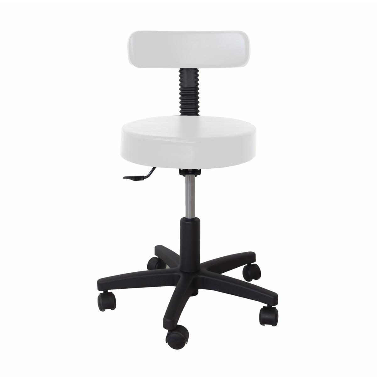Cadeira Mocho Base Secretária C/sefir-encosto Fino (Branca)