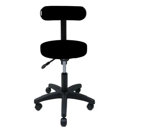 Cadeira Mocho Base Secretária C/sefir - Encosto Fino cor Preta