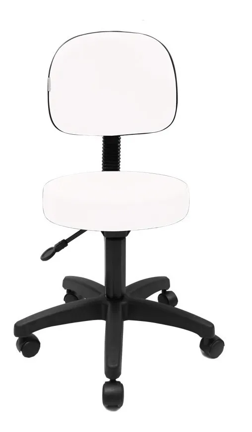 Cadeira Mocho Base Secretária C/Sefir - Encosto Grande (Branca)
