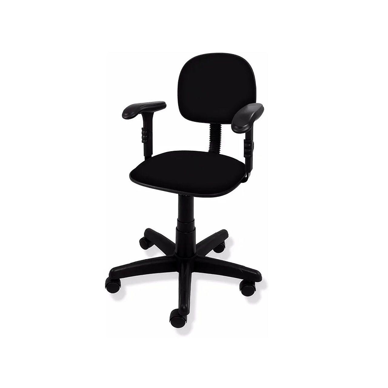 Cadeira Secretária Giratória C/ Braços Reguláveis