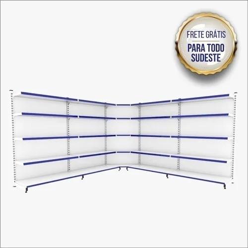 Gôndola De Parede 1 Inicial + 3 Continuação + 1 Canto 1,70 M C/F