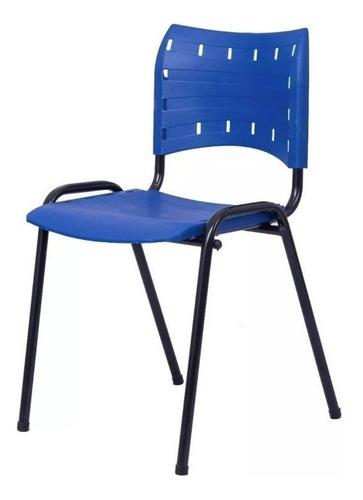 Kit De Cadeira Empilhável Azul (10 Unid.)