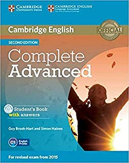 Complete Advanced - Sb With Answers With Cd-Rom -D