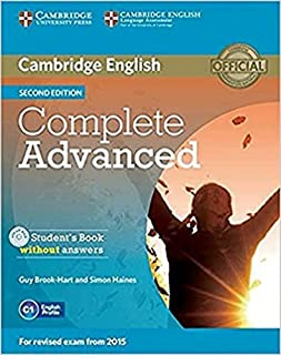 Complete Advanced Sb Without Answers With Cd-Rom - 2Nd