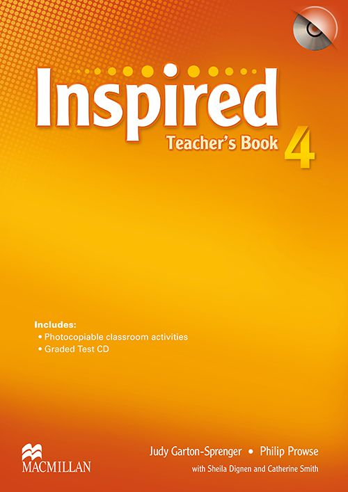 INSPIRED 4 TEACHERS BOOK WITH TEST CD
