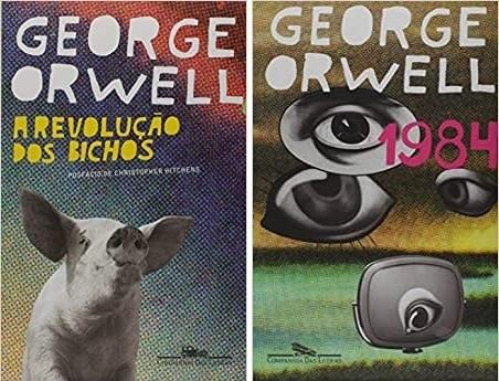 KIT REVOLUÇÃO DOS BICHOS E 1984 (GEORGE ORWELL)