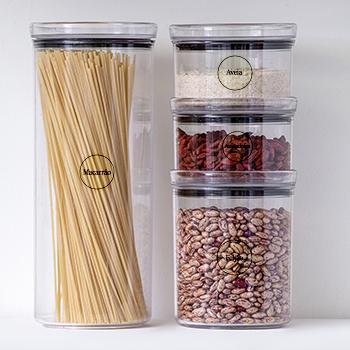 30 Adesivos redondos para cozinha - Transparente - 4 CM