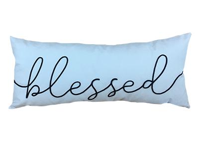 Almofada de veludo bordada BLESSED