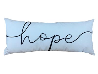 Almofada de veludo bordada HOPE