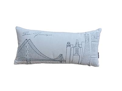 Almofada de veludo bordada SAN FRANCISCO