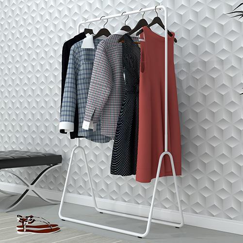 Arara para roupas Estilo - branco/preto