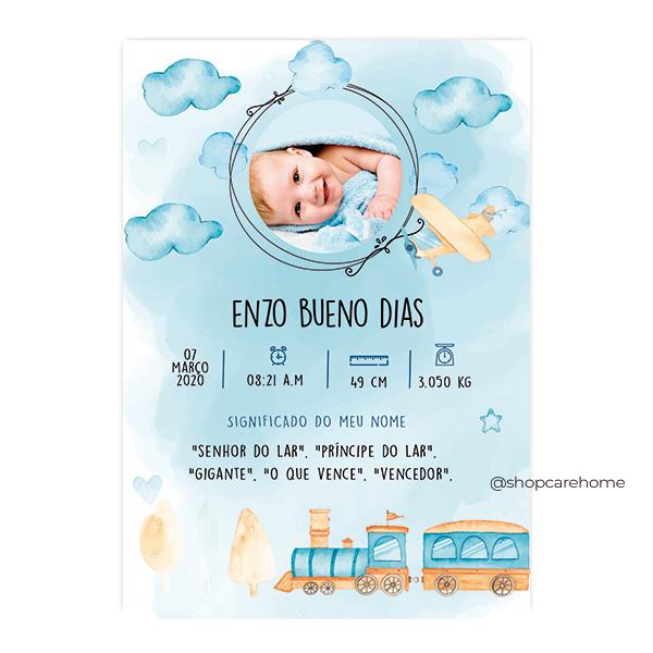 Arte digital para Quadros - Enzo II - PERSONALIZE