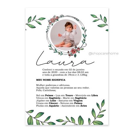 Arte digital para Quadros - Laura - PERSONALIZE