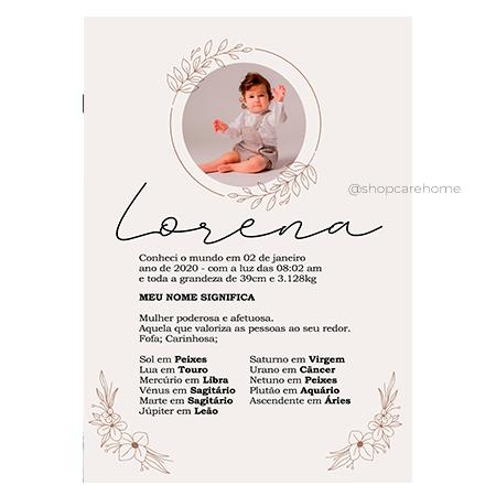 Arte digital para Quadros - Lorena - PERSONALIZE