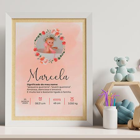 Arte digital para Quadros - Marcela - PERSONALIZE