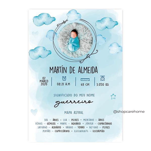 Arte digital para Quadros -Martin - PERSONALIZE