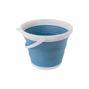 Balde retrátil e dobrável - 10 litros - Cor Azul