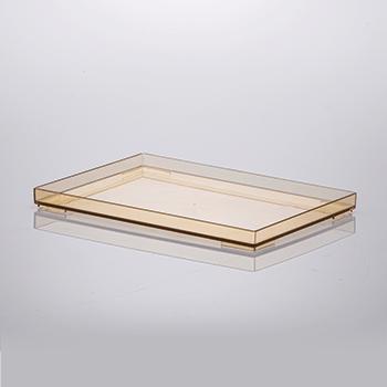 Bandeja organizadora de acrílico - 25x17x2 cm - Amber - 1640