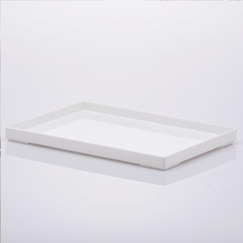 Bandeja organizadora de acrílico - 25x17x2 cm - Branca - 1637