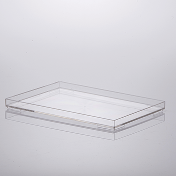 Bandeja organizadora de acrílico - 25x17x2 cm - Cristal - 1639