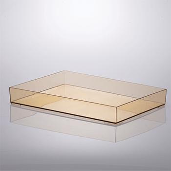 Bandeja organizadora de acrílico - 34,5x25x4,7 cm - Amber - 1644