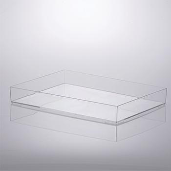 Bandeja organizadora de acrílico - 34,5x25x4,7 cm - Cristal - 1643