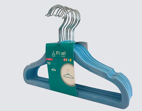 Cabide de Veludo Infantil 30cm - Kit 10 unidades