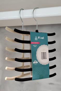 Cabide de veludo para Gravatas - Preto - Fixel