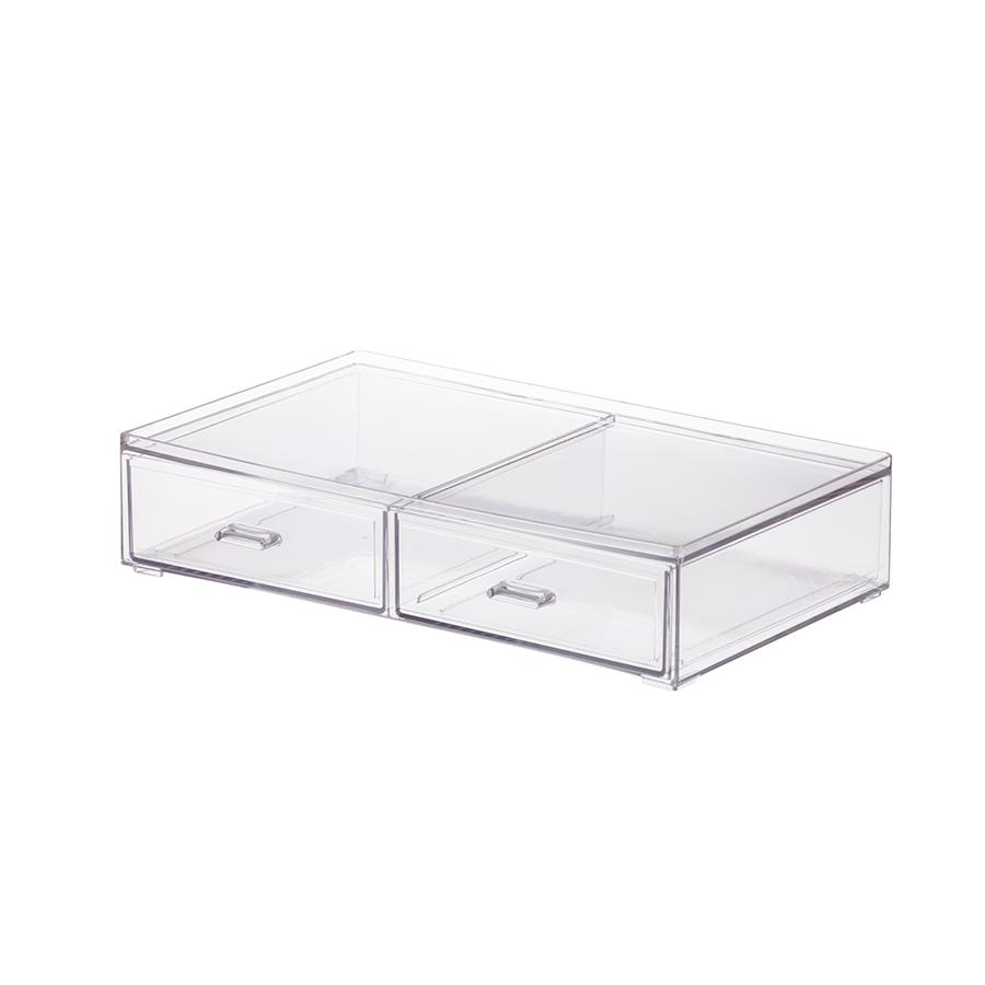 Caixa organizadora c/ 2 gavetas - 21,5 x 15,5 x 5 cm