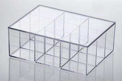 Caixa Organizadora c/ divisórias e tampa - 22,5x16,5x8,5 cm