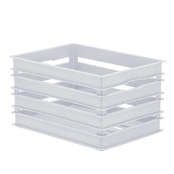 Caixote Alto G - Organizador 49x34x25 cm - Branco - 1217