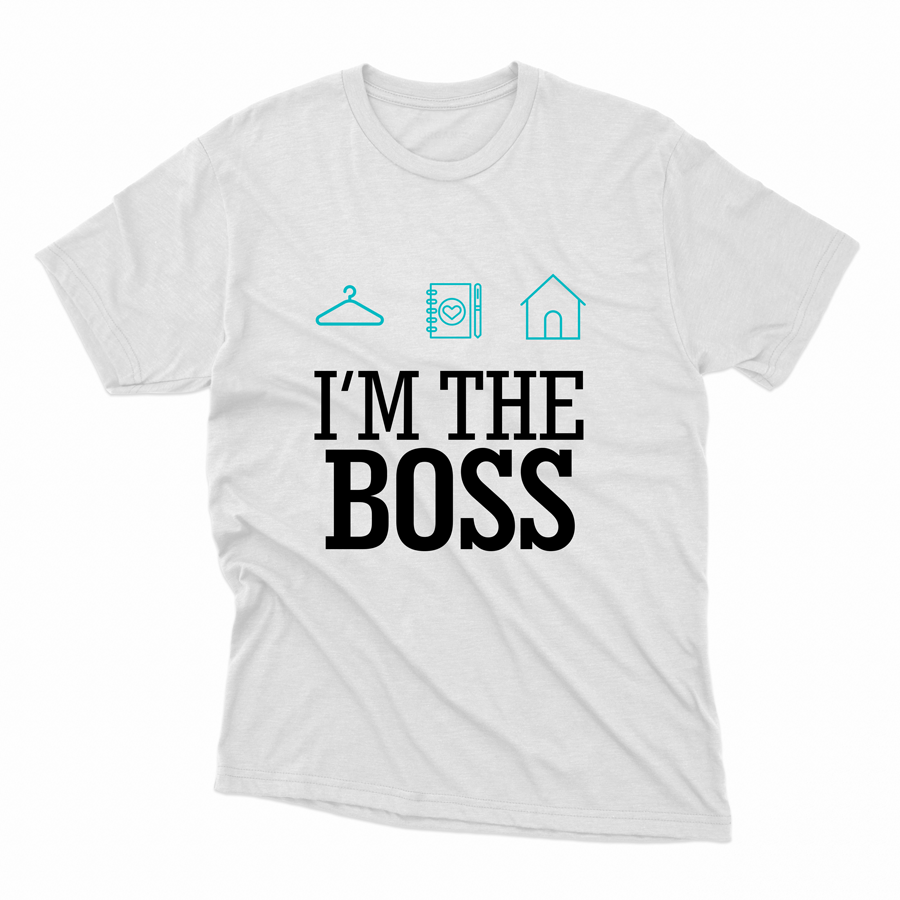 CAMISETA PERSONAL ORGANIZER - I'M THE BOSS BRANCO