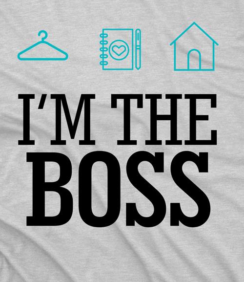 CAMISETA PERSONAL ORGANIZER - I'M THE BOSS BRANCO