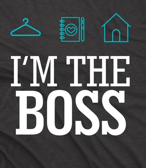 Camiseta Personal Organizer - I'm the boss preta
