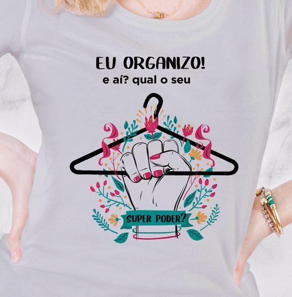 Camiseta Personal Organizer - Super poder - Branca